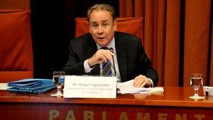 Roger Loppacher, presidente del CAC, en el Parlament de Catalunya.