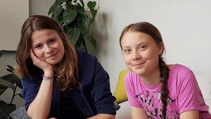 La activista alemana Luisa Neubauer, a la izquierda, con la noruega Greta Thunberg.