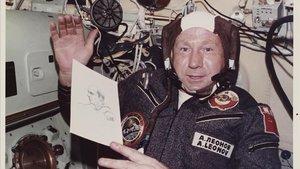 Alexei Leonov, en 1975, durante la misión conjunta Soyuz-Apolo.