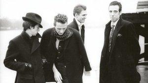 Topper Headon, Joe Strummer, Paul Simonon y Mick Jones, The Clash, en una fotografía de 1980.