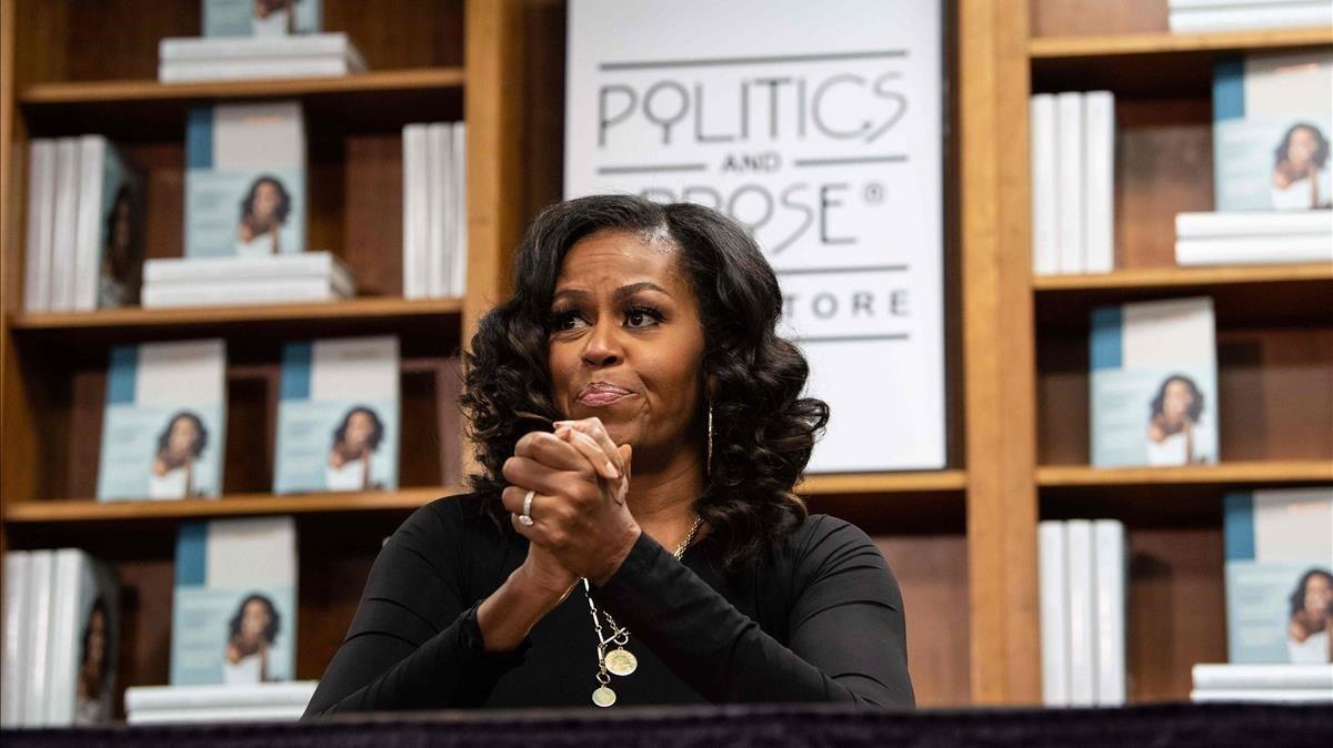 Michelle, promocinando sus memorias, en noviembre del año pasado.