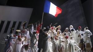 Una escena de Andrea Chénier, la ópera de más éxito de esta temporada del Liceu.