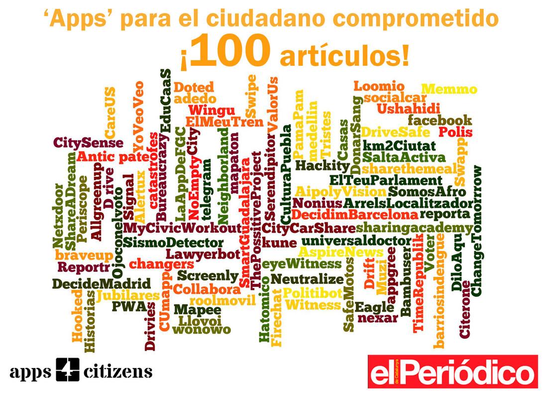 Artículo 100 de Apps para el ciudadano comprometido.
