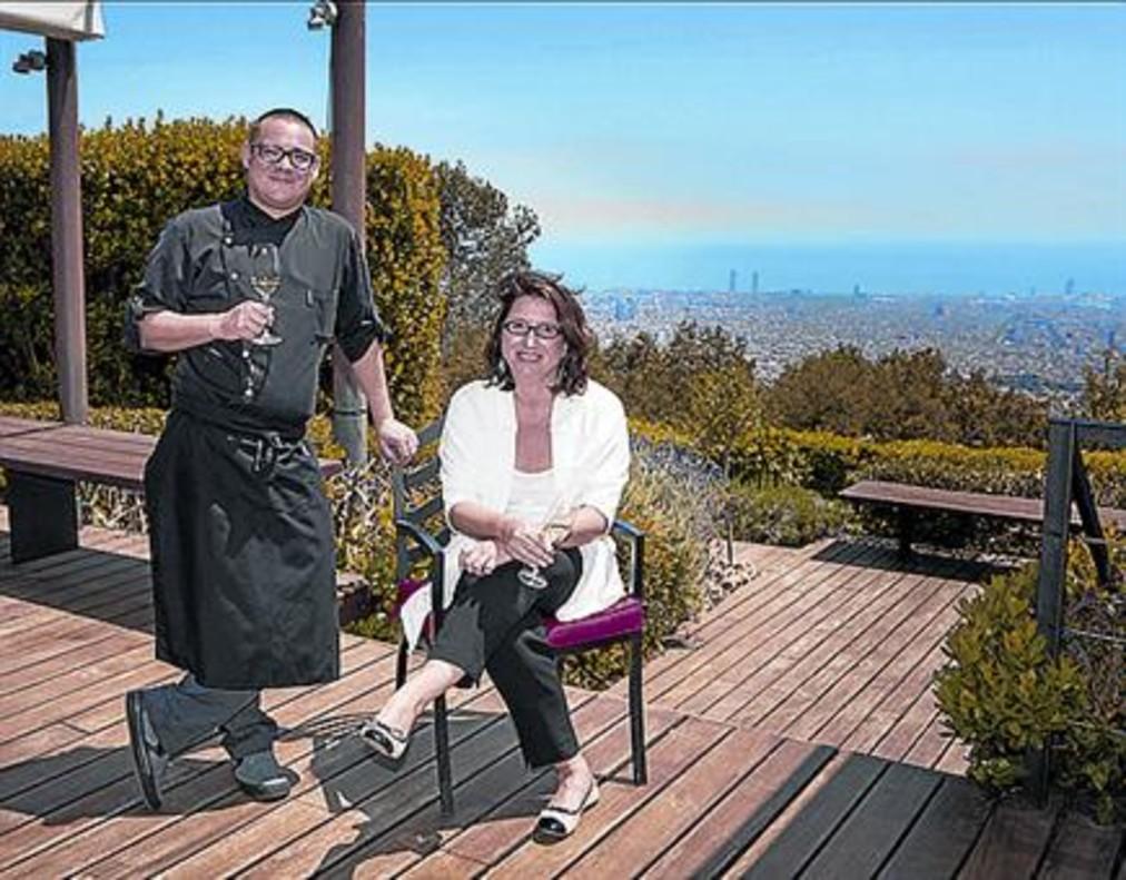 El chef Iván Tarragó y Cristina Roures, directora del Gran Hotel La Florida.