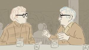 Fotograma de Woody & Woody, que compite por el Goya al mejor corto de animación