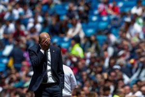 Zinedine Zidane durante un partido del Madrid.