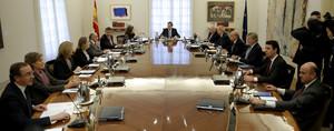 Soria, Pastor y Alonso, en el Consejo de Ministros extraordinario celebrado el 11 de noviembre del año pasado.