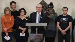 El alcalde de Reus, Carles Pellicer, durante la rueda de prensa que ha ofrecido este viernes.