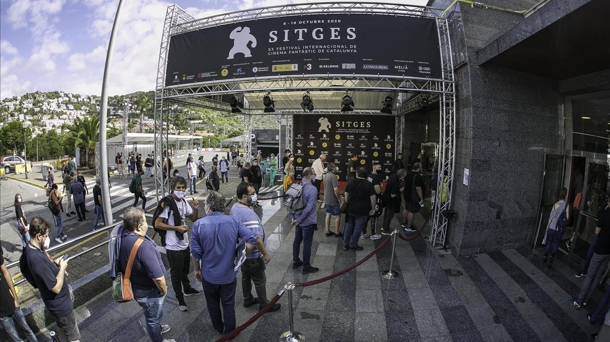 Ambiente en la jornada inaugural del Festival de Sitges 2020