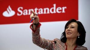 Ana PatríciaBotin, presidenta del Santander, en una imagen de archivo.