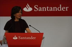 Ana Patricia Botín, presidenta del Banco Santander, en Madrid.