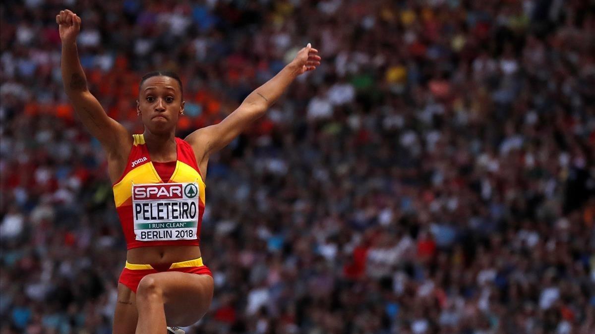 Ana Peleteiro, en la final.