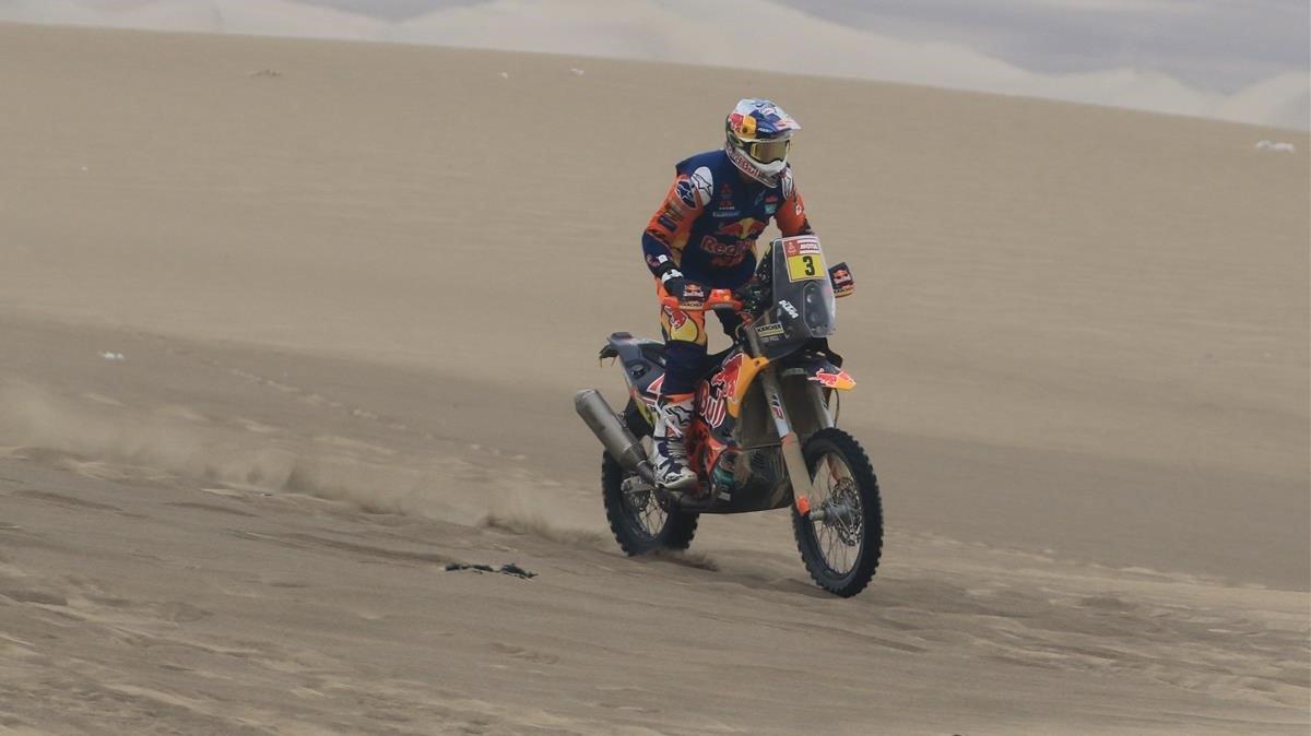 El australiano Toby Price durante el rally Dakar.