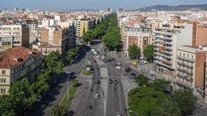 La avenida Diagonal, en su cruce con Aragón.