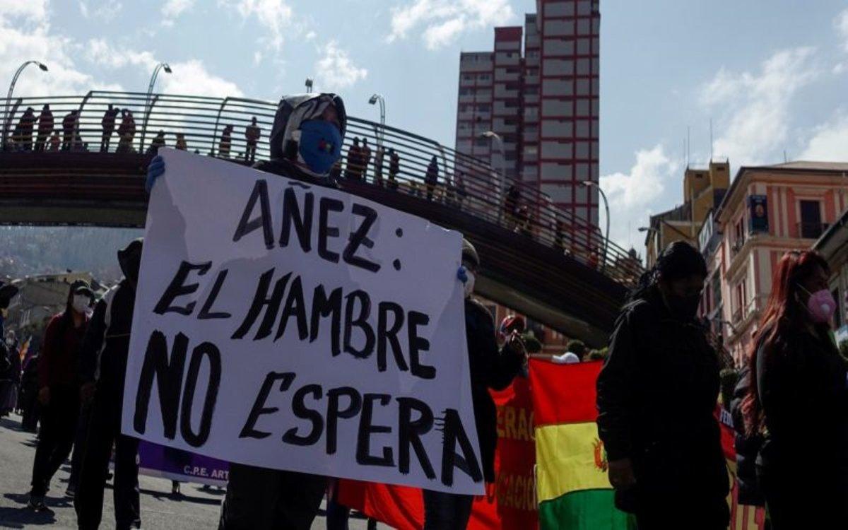 Protestas sociales en Bolivia contra la pobreza.
