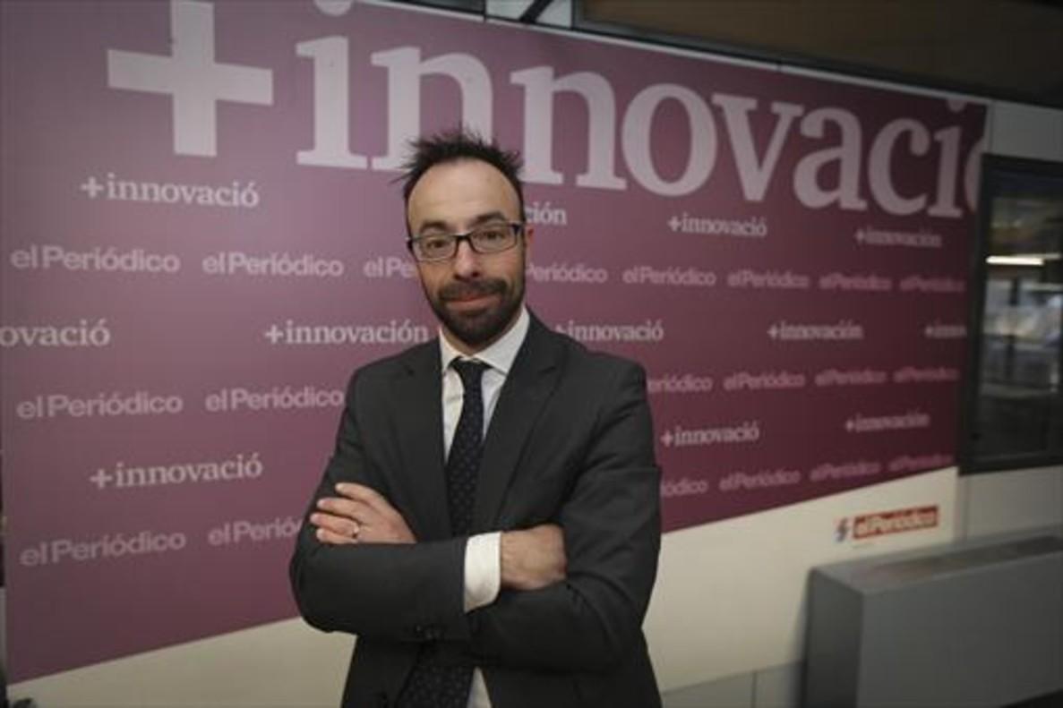 PERSPECTIVAS. Jaume Amat, en un momento de la entrevista en la redacción de EL PERIÓDICO.