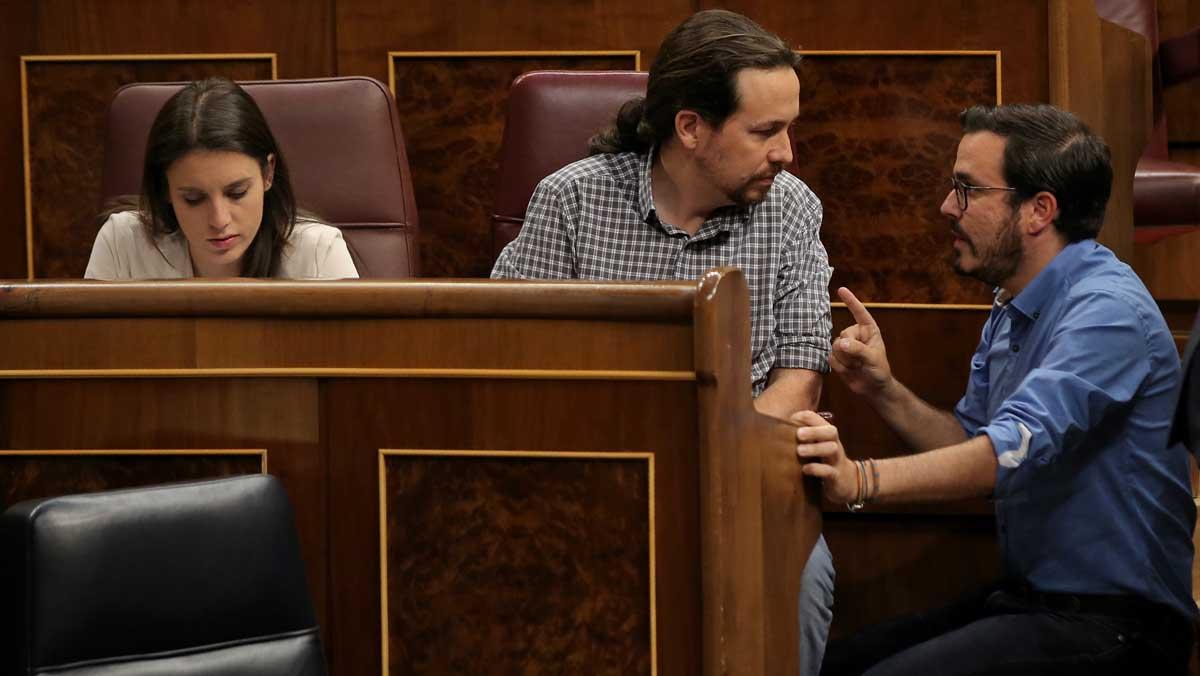 Bronca entre Garzón e Iglesias en el Congreso