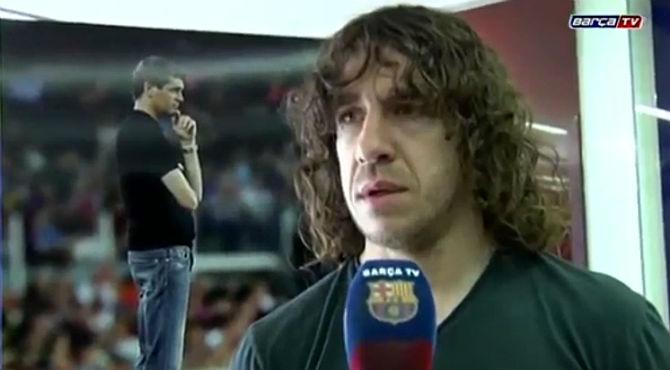 Carles Puyol transmite sus condolencias a los familiares y amigos de Tito Vilanova.