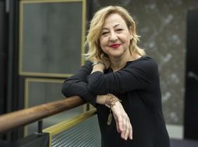 Carmen Machi, el pasado viernes, en 'Ofelias', su hotel preferido en Barcelona.