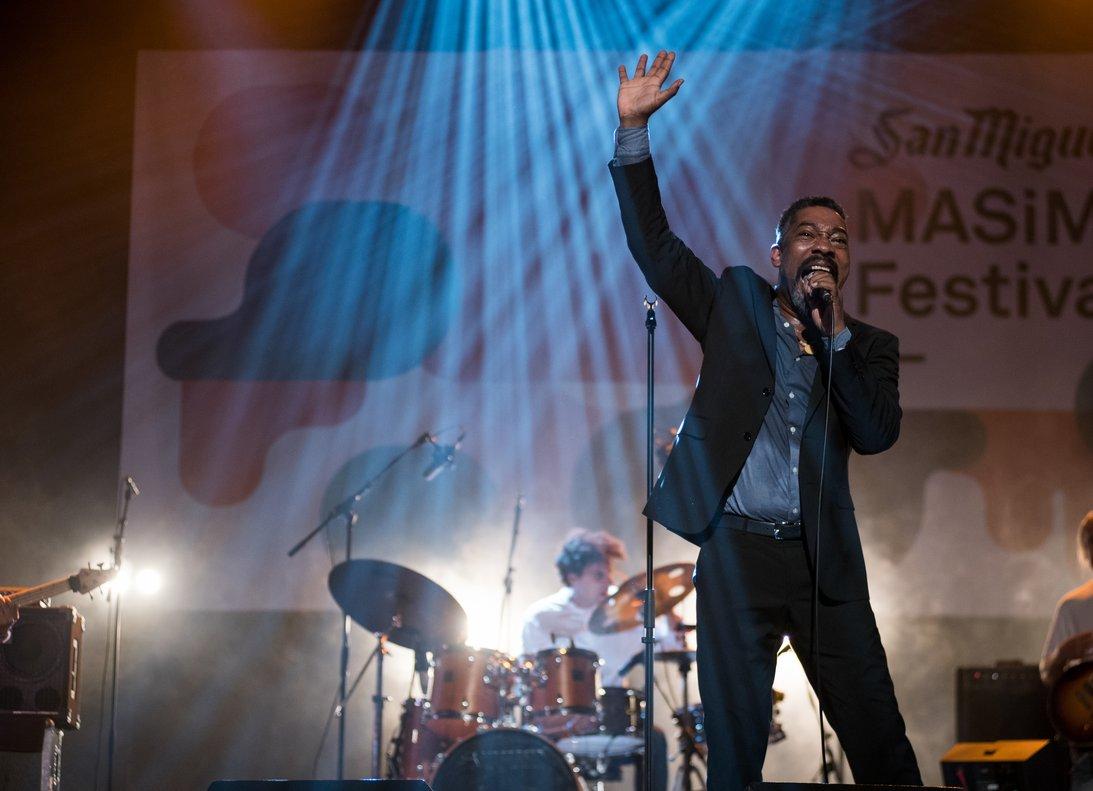 Clarence Bekker, durante su actuación en el último Mas i Mas Festival.