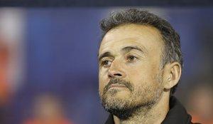 Luis Enrique, seleccionador español, durante el Croacia-España de la Liga de Naciones.