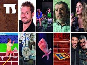 Cartel de la próxima programación teatral en Santa Coloma de Gramenet.
