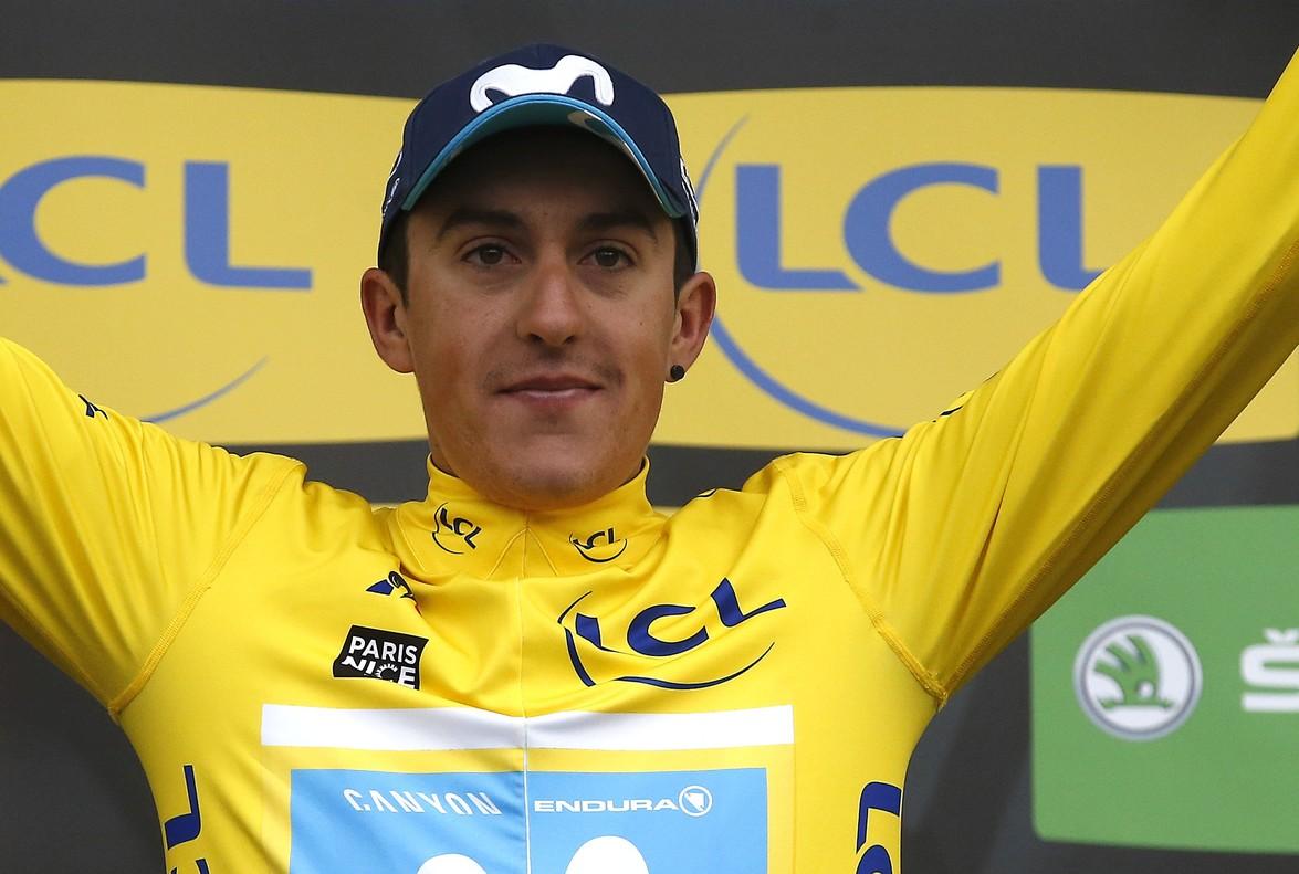Marc Soler, con el jersey amarillo de la París-Niza.