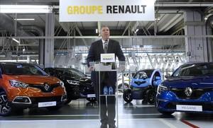 El director de Fabricación y Logística del grupo Renault y presidente de la filial en España, José Vicente de los Mozos, en la fábrica de Valladolid.