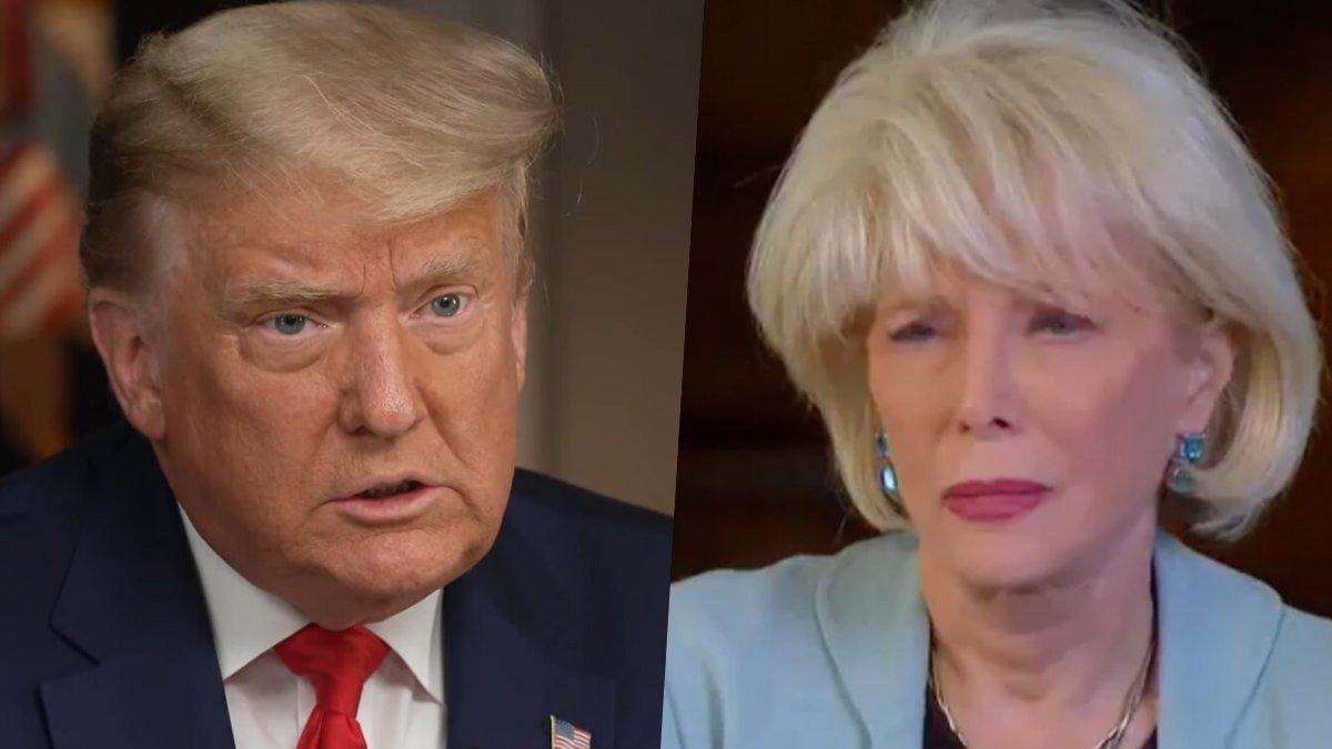 Donald Trump y Lesley Stahl.