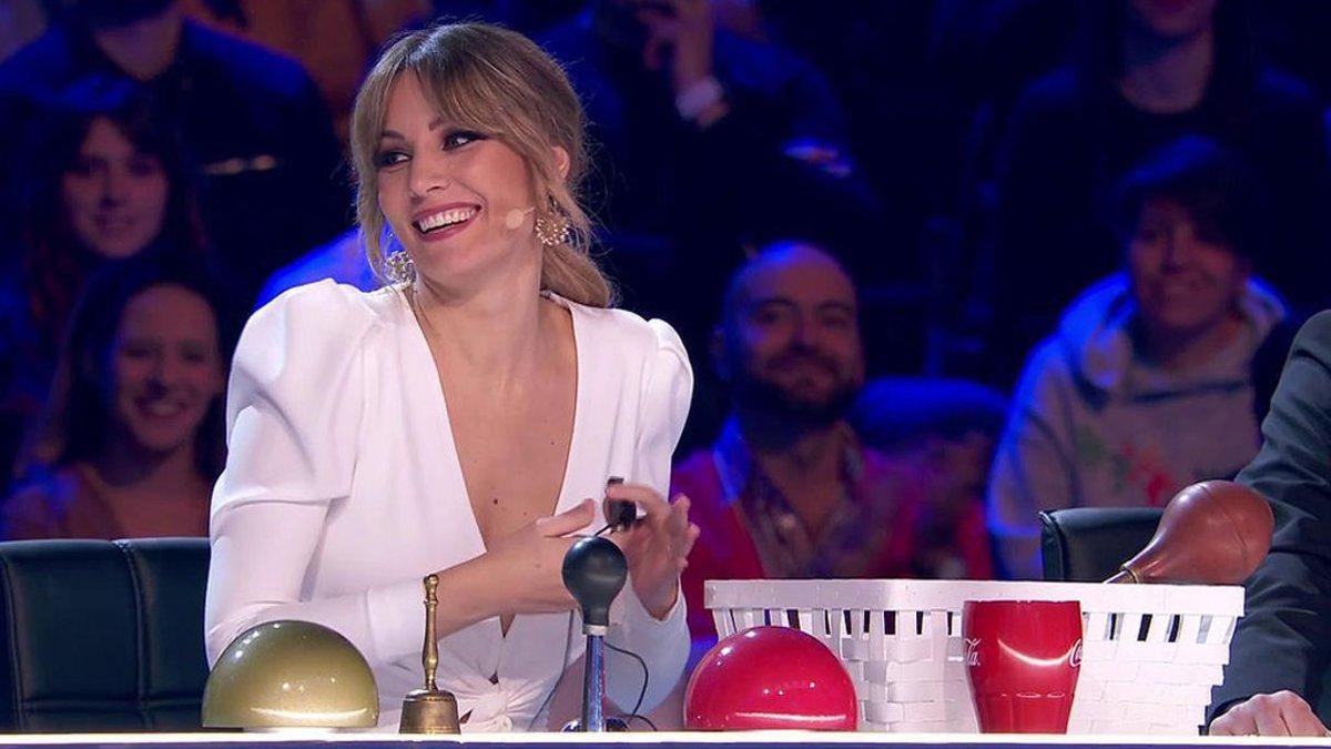 Edurne en la segunda semifinal de 'Got Talent España'.