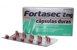 Envase del medicamento Fortasec.