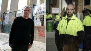 El trabajador de Gallina BlancaJuli López (izquierda) y uno de La Antigua Lavandera Paul Moreno, ambos perderán su empleo en los próximos meses.