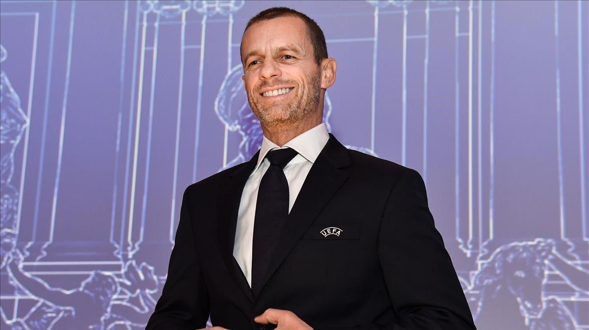 El esloveno Aleksander Cefferin, presidente de la UEFA.