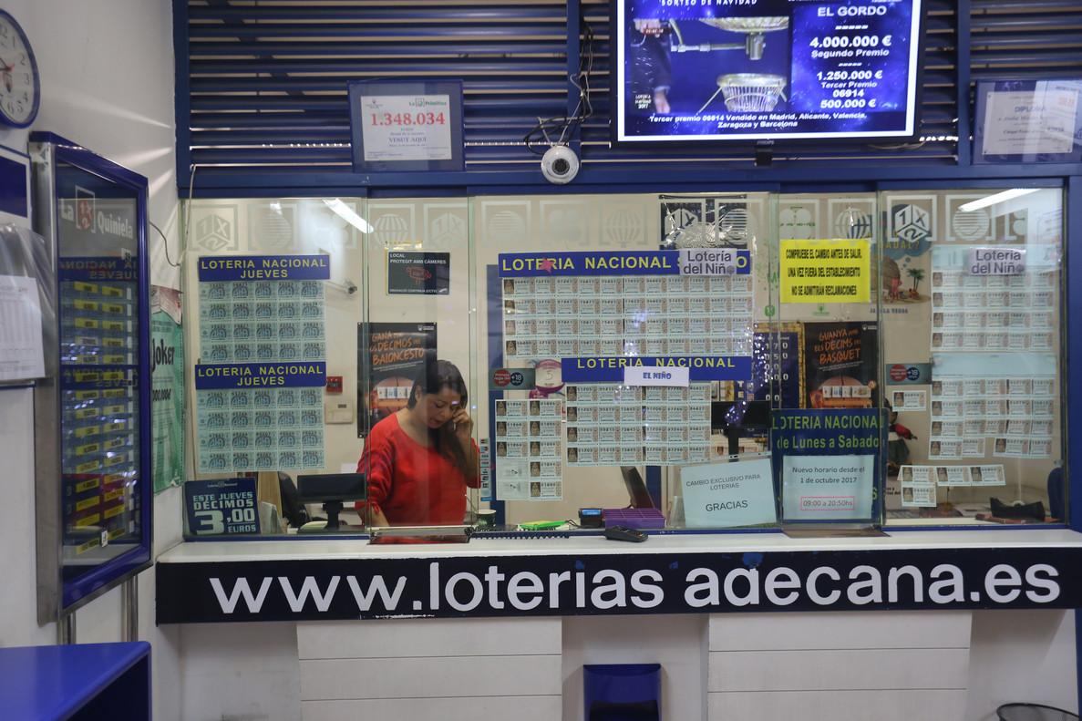 Una administraciónde Loterías.