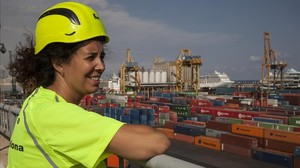 Maica Cerezo, estibadora del Port de Barcelona
