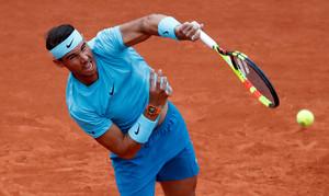 Tennis - French Open - Roland Garros, Paris, France - May 29, 2018 Spains Rafael Nadal in action during his first round match against Italys Simone Bolelli REUTERS/Christian Hartmann