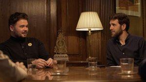 Gabriel Rufián y Gonzo en la nueva entrega de 'Salvados'.