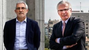 Gaspar Llamazares y Baltasar Garzón.