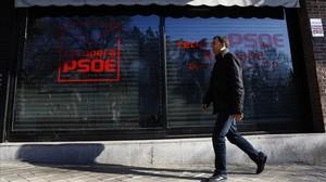 La sede de RecuperaPSOE, en la calle de Ferraz de Madrid, a 600 metros de la sede oficial del partido.