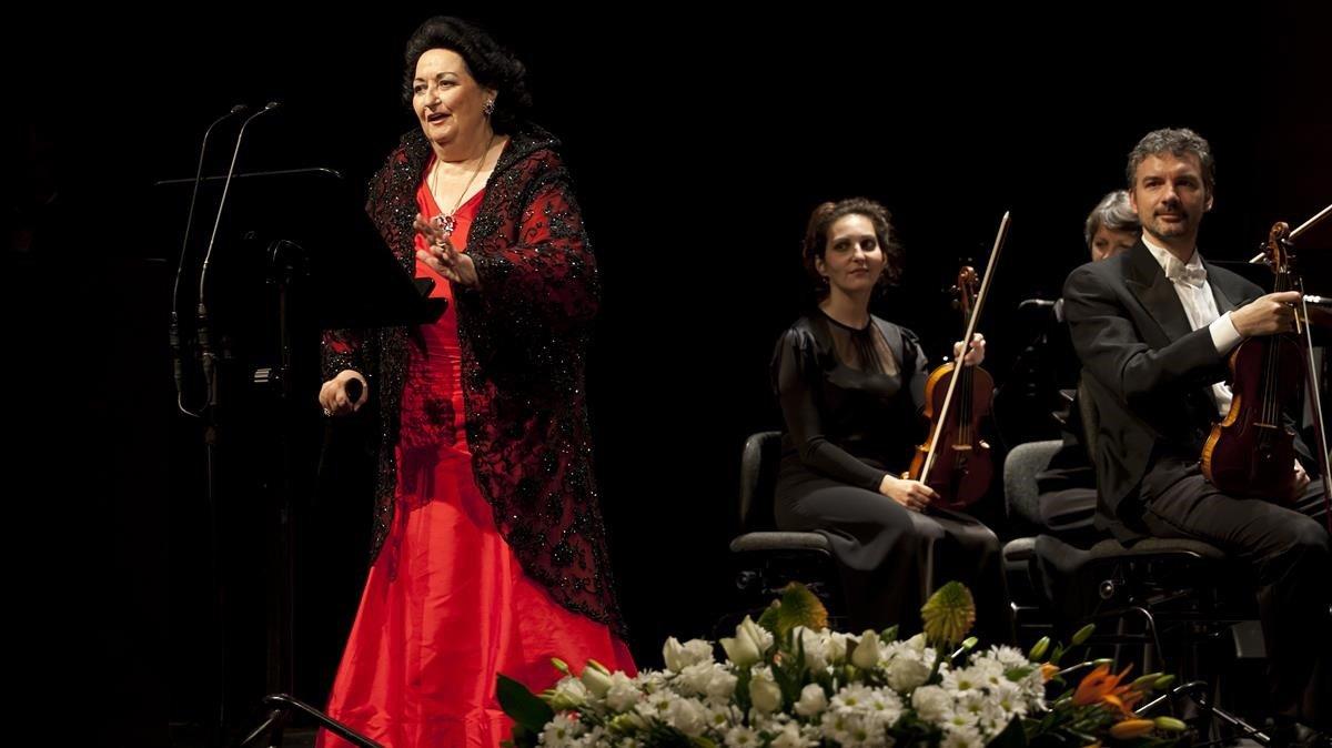 Montserrat Caballé en su último concierto en el Liceu en el 2013.