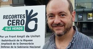 Imagen del cabeza de lista de Recortes Cero, Jordi Martínez.