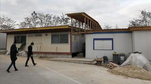 Imagen parcial de la mezquita cerrada por las autoridades en Lagny sur Marne, este miércoles.