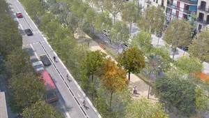 Imagen virtual del proyecto de remodelacion de la Meridiana.