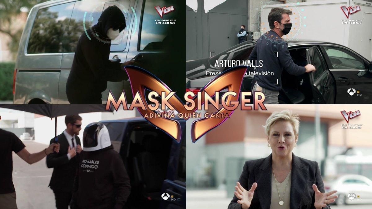 Imágenes del crossover entre 'Equipo de investigación' y 'Mask singer'.