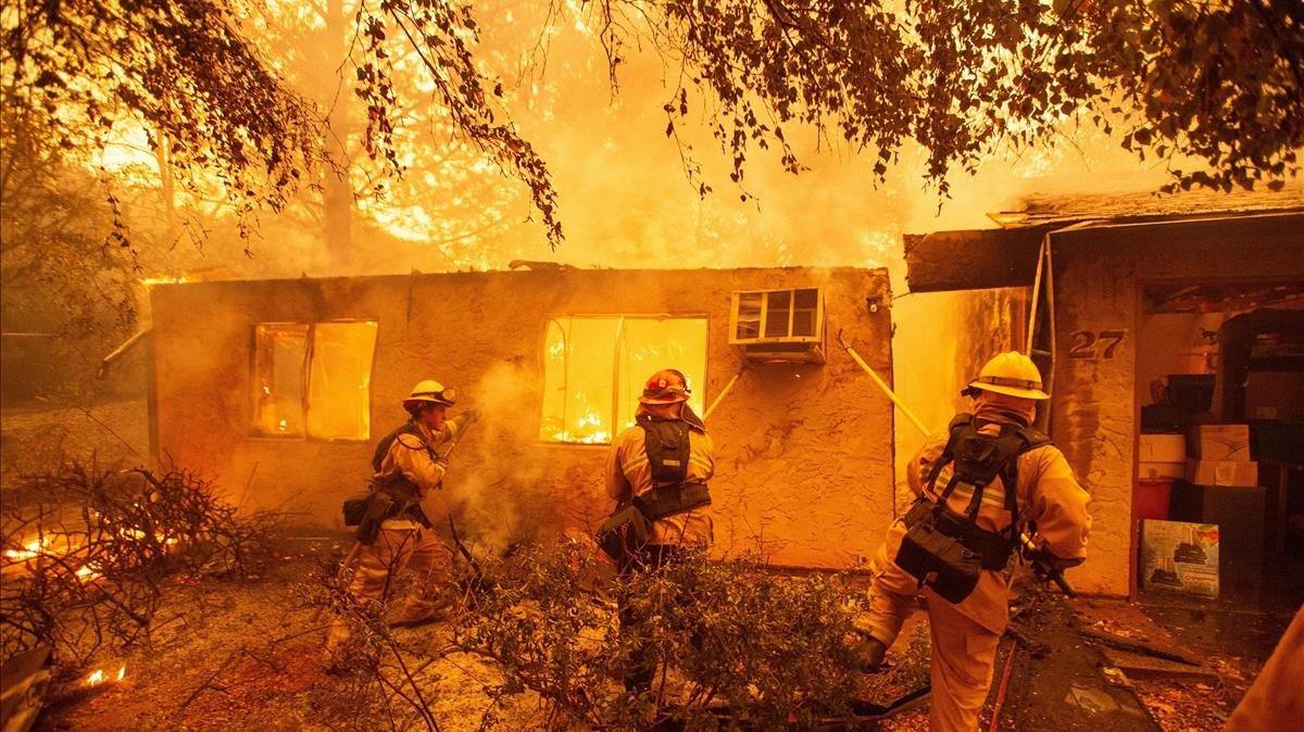 Imágenes de archivo de los incendios en California del verano del 2018.