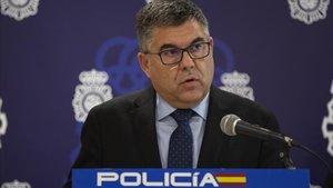 Juan Carlos Fulgencio, durante una rueda de prensa,en València.