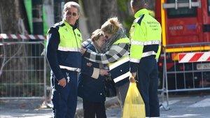 Una afectada por el derrumbe del puente Morandi, semocionado al regresar a su casa