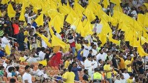 Las gradas de un reciente partido de fútbol(masculino) en Yeda (Arabia Saudí).