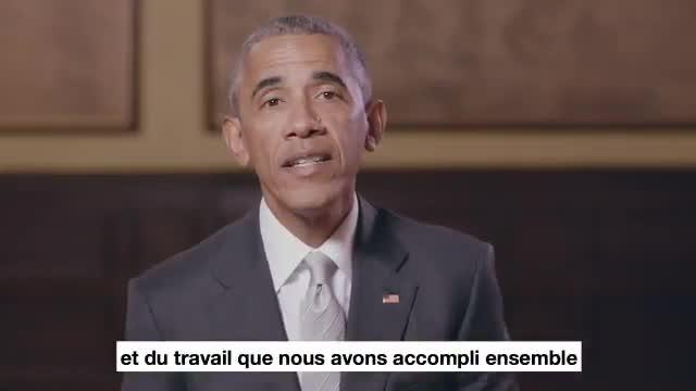 Lexpresident dels EUA Barack Obama argumenta el seu suport a Macron.