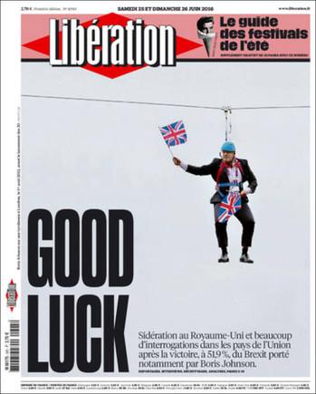 El 'brexit', en les portades internacionals
